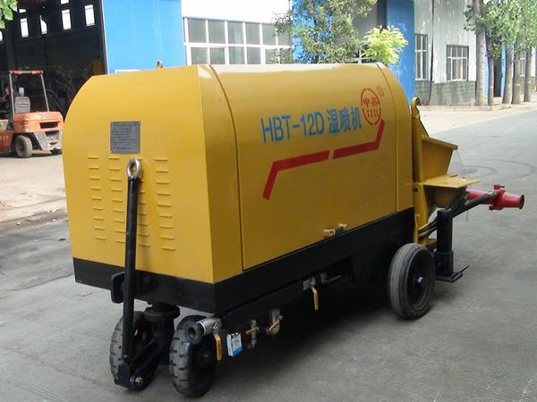 泵送式湿喷机输送量