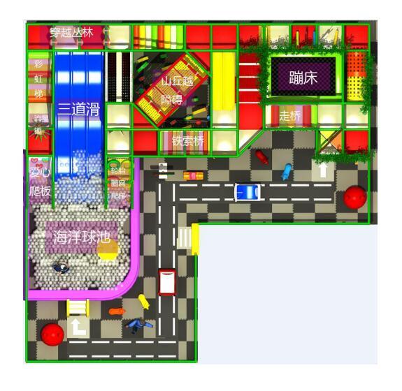 口袋屋淘气堡案例效果图功能区展示