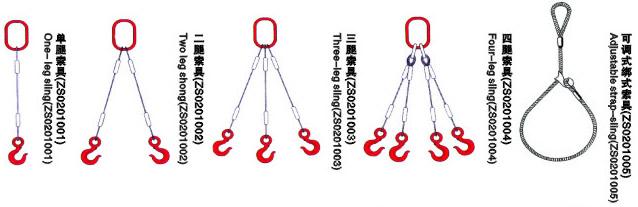 钢丝绳索具常用组合一
