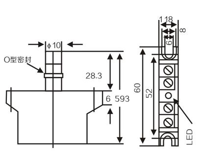 LMF15 Inductive proximity switches sensors