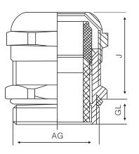 防爆型金属电缆接头公制螺纹M型