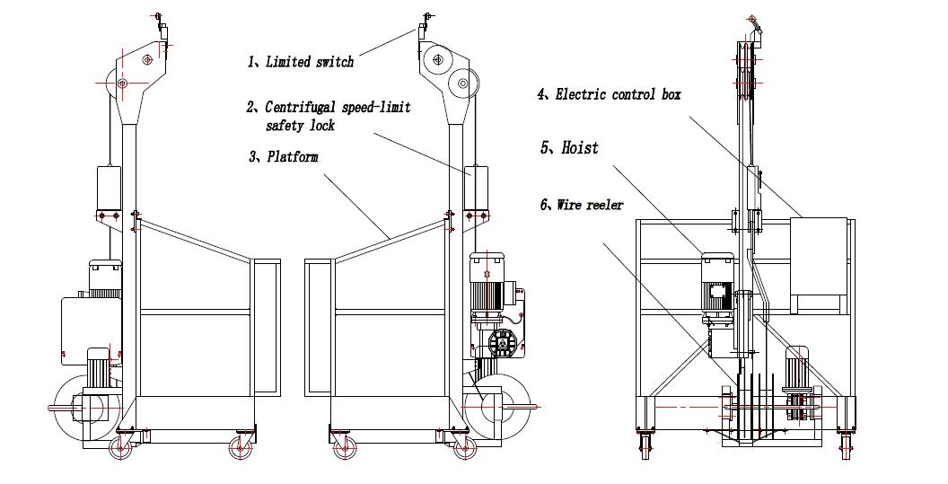 zlp250高处作业吊篮 用于临时的大楼外墙检查,维护和其他的高处施工作