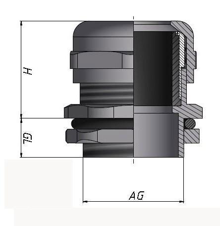 防电磁型金属电缆接头管制螺纹G型
